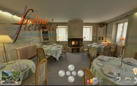 visite virtuelle du restaurant jardins fleuris